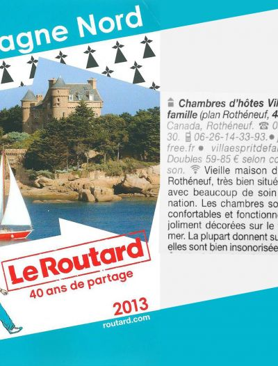 Le Guide du routard 2013